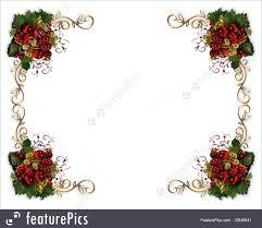 templates christmas border elegant stock illustration i2648541 image and illustration composition for christmas card party invitation template border or frame holly leaves berries or nts on white background