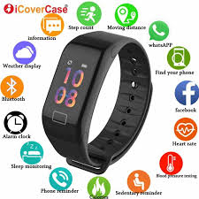 Smart Watch Heart Rate Fitness Tracker Bracelet Wristbands For ...