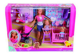 Кукла Штеффи + дети+принадлежности. 2 вида Simba 5736350