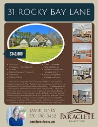 new listing in senoia paraclete realty inc 31 rocky bay listing flyer price