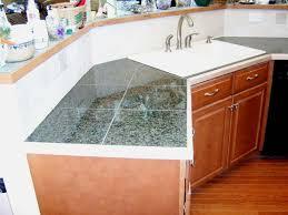 Diy Tile Kitchen Countertops Bathroom Tile Countertop Ideas