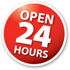 Open 24 hours a day / 7 Days a Week
