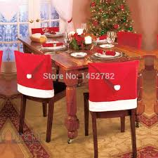 household dining table set christmas snowman knife: pc christmas dining table chair sets chair cover christmas hat decorated backrest christmas table decoration
