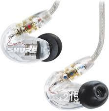<b>Вставные наушники Shure SE</b> 215-CL-BT1-EFS прозрачные ...