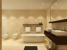 ideas bathroom tile color cream neutral:  neutral bathroom twin basins bidet