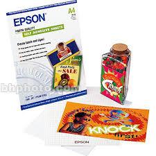 <b>Epson Photo Quality</b> Self-adhesive Sheets (8.3x11.7 Inches, 10 ...