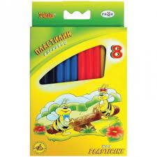 <b>Пластилин Гамма Пчёлка восковой</b> 8 цветов 98 грамм – Купить ...