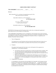 printable employment contract sample form generic employment contract sample