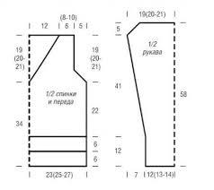 Джемпер спицами с V-образным вырезом, описание | Модели ...