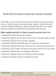 topclinicalresearchassociateresumesamples conversion gate thumbnail jpg cb