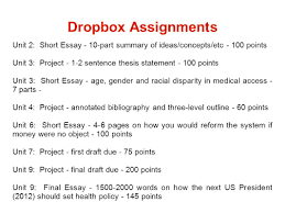 ls unit overview of health care policy scott s notes ppt 4 dropbox assignments