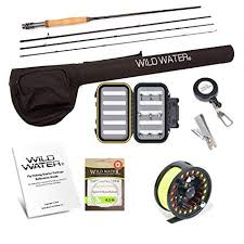 Wild Water <b>Fly</b> Fishing Rod and Reel Combo Complete <b>5/6</b> Starter ...