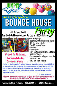 open house flyer tumble n roll high res bounce party