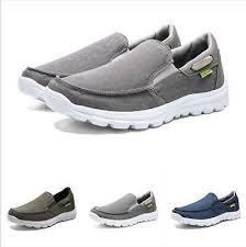 <b>Plus Size 39-48</b> Mens Slip On Casual Loafers Canvas Lightweight ...