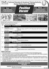 technical education vocational training jobs application form kpk technical education vocational training jobs 2016 application form
