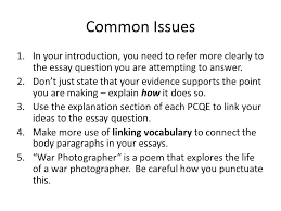 War Photographer    Isolation CEL Critical Essay Feedback    ppt     SlidePlayer