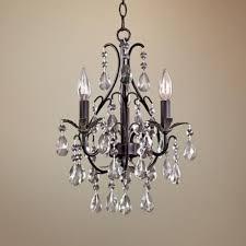 small bathroom chandelier crystal ideas: castlewood walnut silver finish  light mini chandelier lampspluscom thinking about