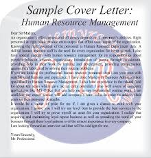 sample cover letters brand human resource marketing and finance cover letter human resource management