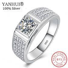 <b>YANHUI Original</b> Zircon Engagement Rings For Couples Men ...