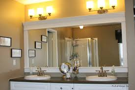 update bathroom mirror: how to upgrade your builder grade mirror frame it