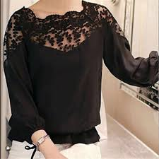<b>2019</b> Autumn Shirt Leaves Embroidery <b>Long Sleeve Women</b> ...
