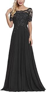 Lace Applique <b>Beaded Mother</b> of The Bride Dresses Long with ...