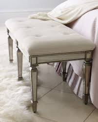 denisonquot mirrored bench traditional upholstered benches upholstered bedroom bench bed bench furniture