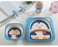 «<b>Набор детской посуды</b> Bamboo fibre kids set 5 пр. (из ...