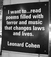 Resultado de imagen de music is emotional life of most people leonard cohen
