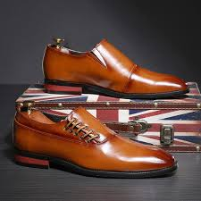 CIMIM Brand <b>2019 New Formal Shoes</b> Men Business Office Leather ...
