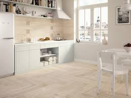 Wood Floor Kitchen Wood Tiles Light Wooden Tiled Kitchen Splashback And Floor Wood