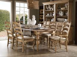 Pine Dining Room Chairs Kincaid Homecoming Solid Wood Farmhouse Leg Dining Table Set In