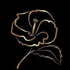 <b>Hibiscus Flower</b> Sketch Gold, Rich, <b>Elegant</b> And <b>Exquisite</b> Royalty ...