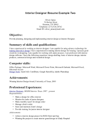 resume examples 24 cover letter template for interior designer sample resume 25 interior design resume objective