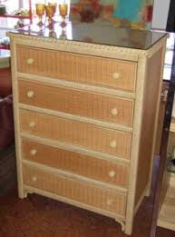 pc henry link rattan furn vintage quothenry link wicker worldquot tallboy wicker chest of drawer