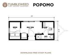 images about Popomo on Pinterest   Tumbleweed tiny house    Popomo Plans   House to Go Green Building Plans From Tumbleweed homes This would work for