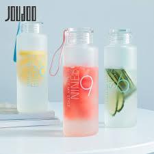 <b>JOUDOO 300ml</b>/480ml Frosted Glass Water bottle Healthy Water ...