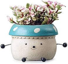 Amazon.com: <b>Mushroom Flower</b> Pots,Doll Shaped Resin Garden ...