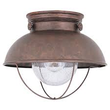sebring weathered exterior ceiling light fixtures copper bronze modern minimalist contemporary interior design decor ceiling lighting fixtures
