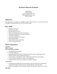 sample resume sle resume objectives internships and cover architecture resume format