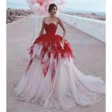 Ad(eBay Url) Arabic <b>Red</b> White <b>Tulle</b> Gothic Wedding Dress ...