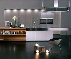 modern kitchen setup: kitchen modern contemporary interior kitchen design come with black concrete floor material and white unique