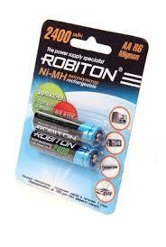 <b>Аккумулятор Robiton</b> LR6 <b>AA</b> 2400 mAh R2U (уп 2 шт) — купить в ...