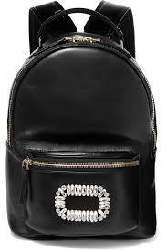 Roger Vivier <b>Sexy</b> Choc <b>Crystal</b>-<b>Embellished</b> Glossed-Leather ...