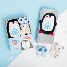 """<b>Набор</b> подарочный """"<b>Крошка Я</b>"""" Пингвин, плед 90х100 см ..."""