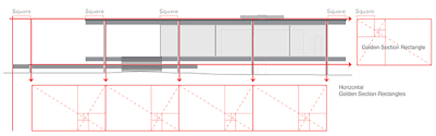 Mies van der Rohe    s Farnsworth House on BehanceAll aspects of the elevations and floor plan are based on golden section proportions  The shape and configuration of the front elevation windows and the