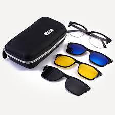 <b>Polarized Sunglasses</b> Set With <b>Magnetic</b> Clips <b>TR</b> Frame Clip On ...