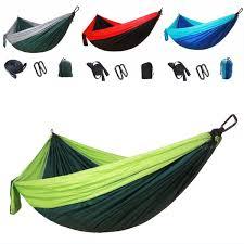 2019 Free DHL Outdoor <b>Parachute Cloth Hammock</b> Foldable ...