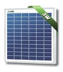 Solarland® SLP003-12U 3W <b>12V</b> High-Efficiency Poly <b>Solar Panel</b>