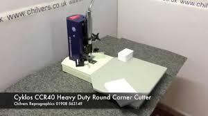 <b>Cyklos CCR40</b> Heavy Duty Manual Round Corner Cutter - YouTube